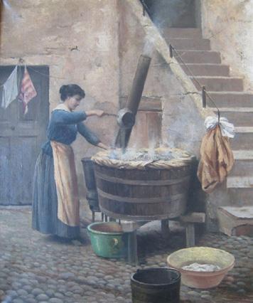 La lessive les jours de lessive fontaine fourches for Interieur 19eme siecle